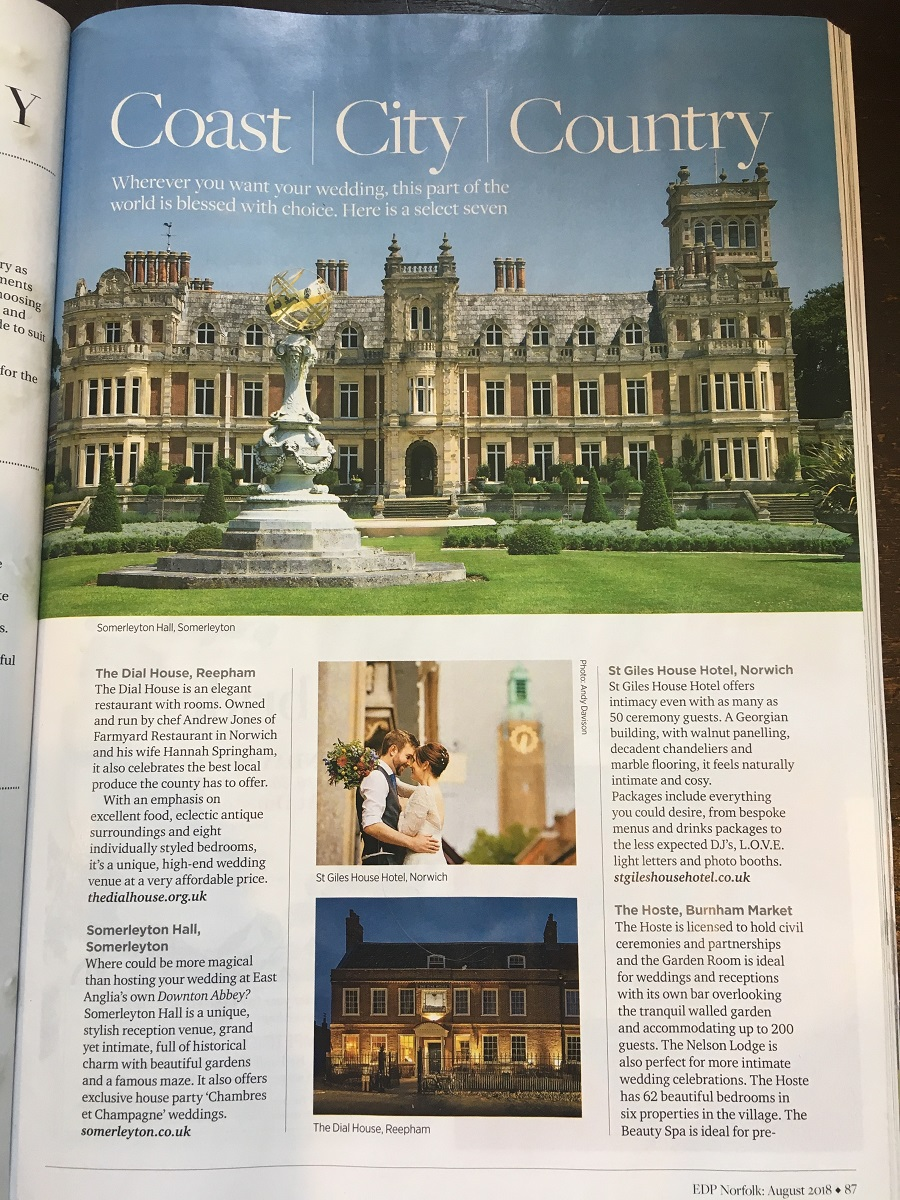 weddings in norfolk magazine